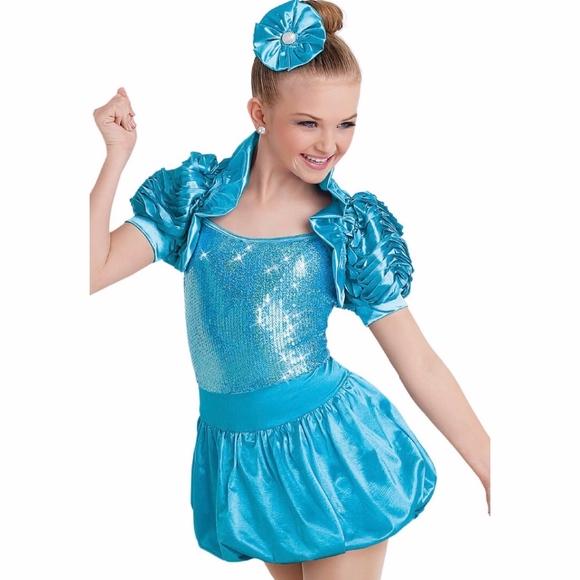 Weissman Girls Ooh La La Dance Shrug Costume Sequi